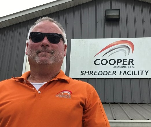 Steve Cooper at Cooper Shredder Facility