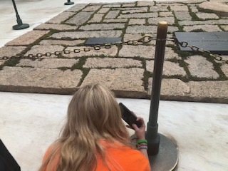 JFK gravesite and the eternal flame